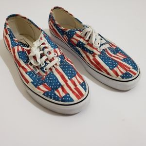 🔥 Vans Free Flag Authentic red white and blue
